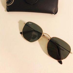 Ray Ban Hexagonal Flat Lens Sunglasses